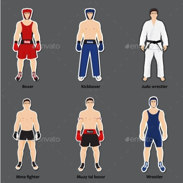 GraphicRiver Set of Different Fighters 11126355