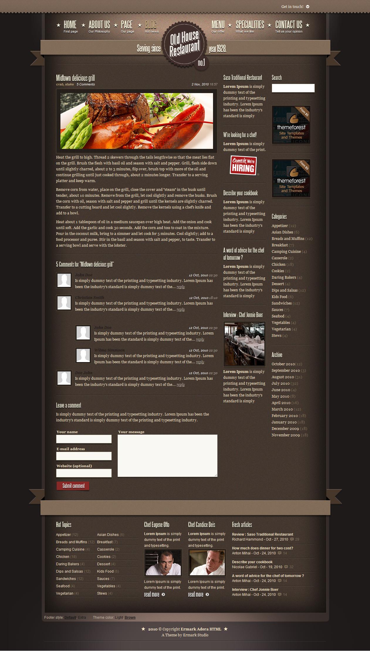 Ermark Adora HTML