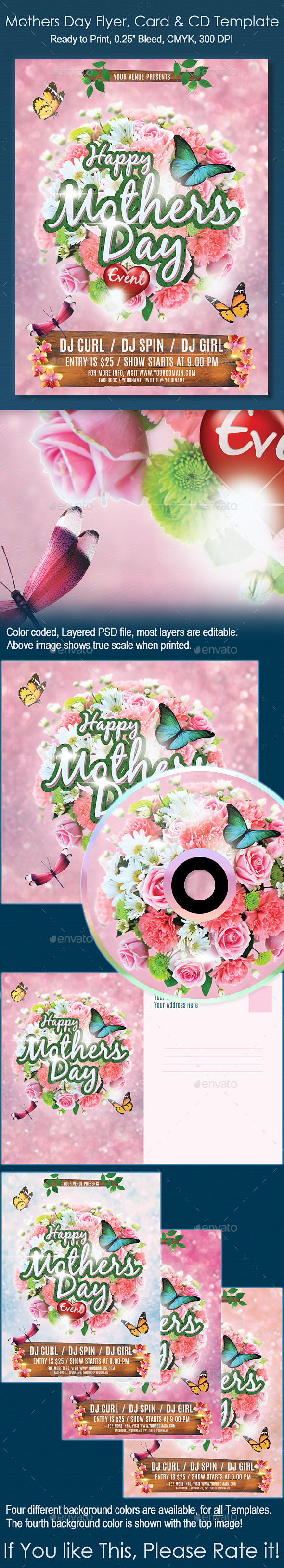GraphicRiver Mothers Day Flyer Event CD & Card Template 11126628