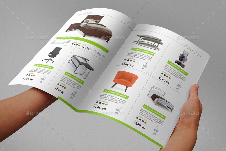 products catalogs brochure 20 pages by owpictures graphicriver. Black Bedroom Furniture Sets. Home Design Ideas