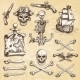 Set of Vintage Hand Drawn Pirates - GraphicRiver Item for Sale