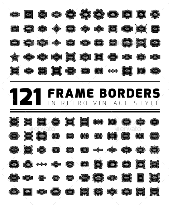 GraphicRiver Border Frame Set 11127114