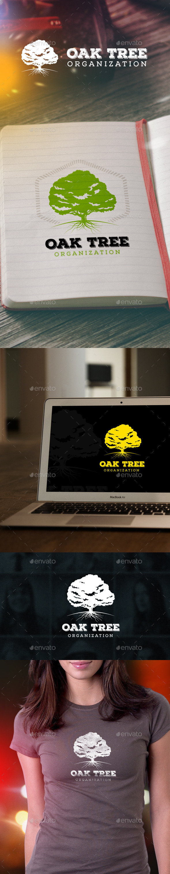 GraphicRiver Oak Tree Logo 11098933