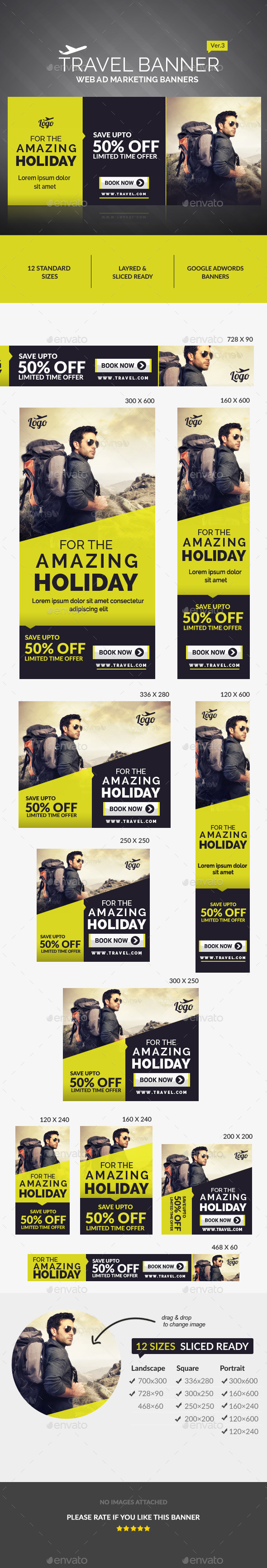 GraphicRiver Travel Ad Banners 11127215