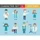 Doctor and Nurse Characters Madical Icon Set - GraphicRiver Item for Sale