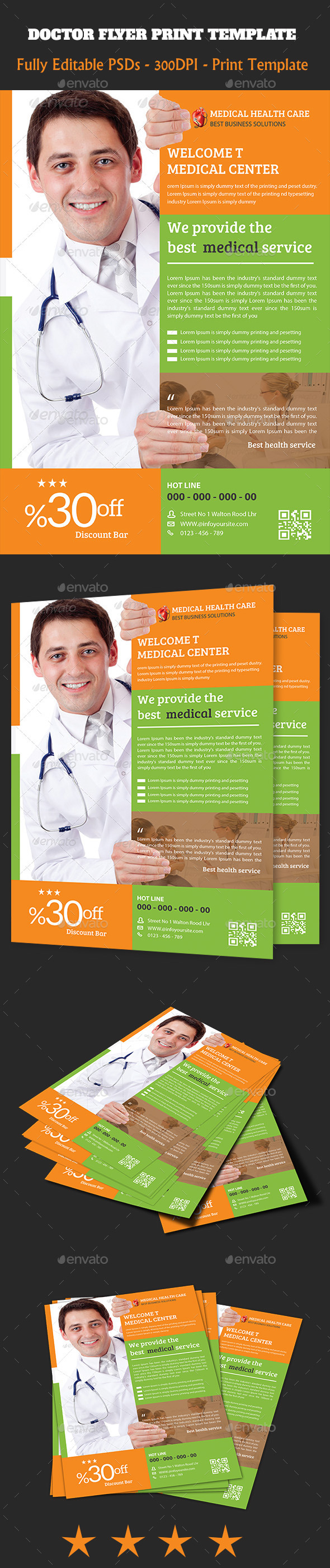 GraphicRiver Doctor Flyer Template 11127719