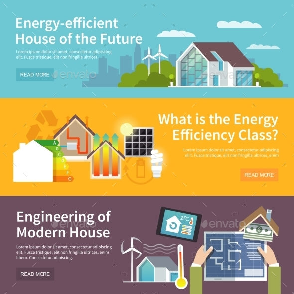 GraphicRiver Energy Saving House Banner 11127727