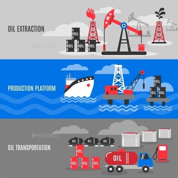 GraphicRiver Petroleum Banner Set 11127728