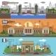 Historical Landmarks Skyline Banners Set - GraphicRiver Item for Sale