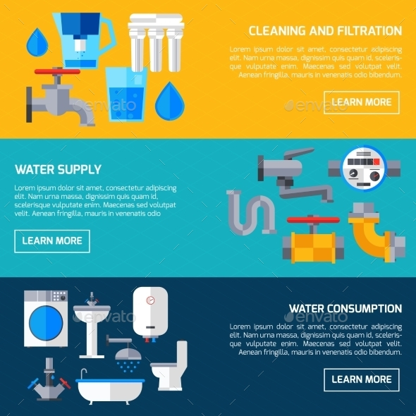 GraphicRiver Water Supply Banners 11127756