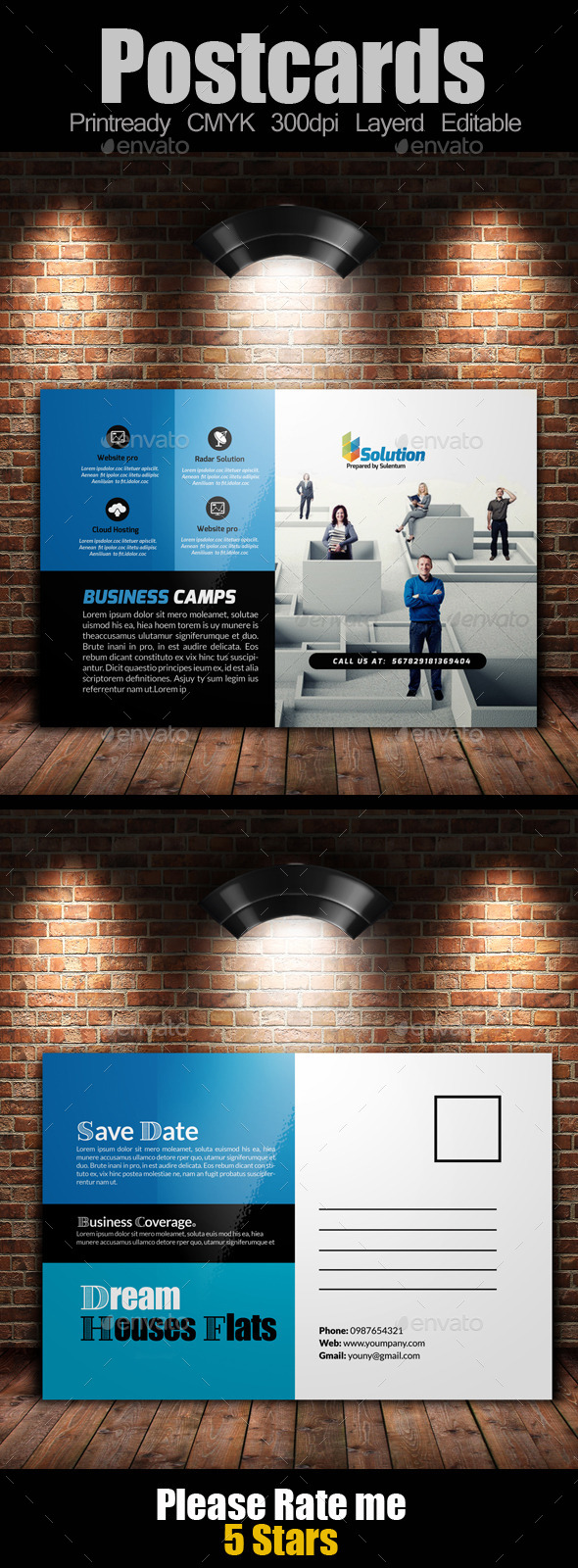 GraphicRiver Multi Use Business Post Cards Template 11128034