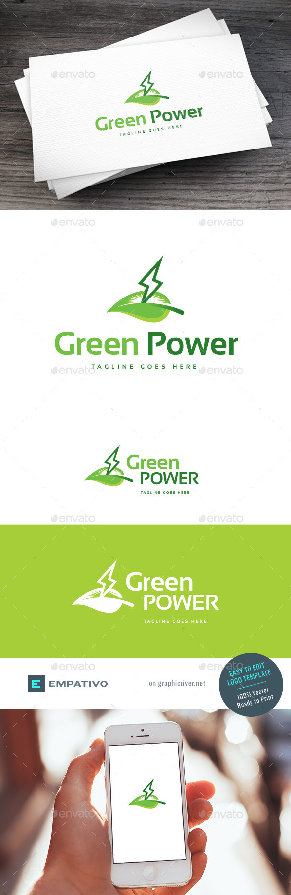GraphicRiver Green Power Logo Template 11098268