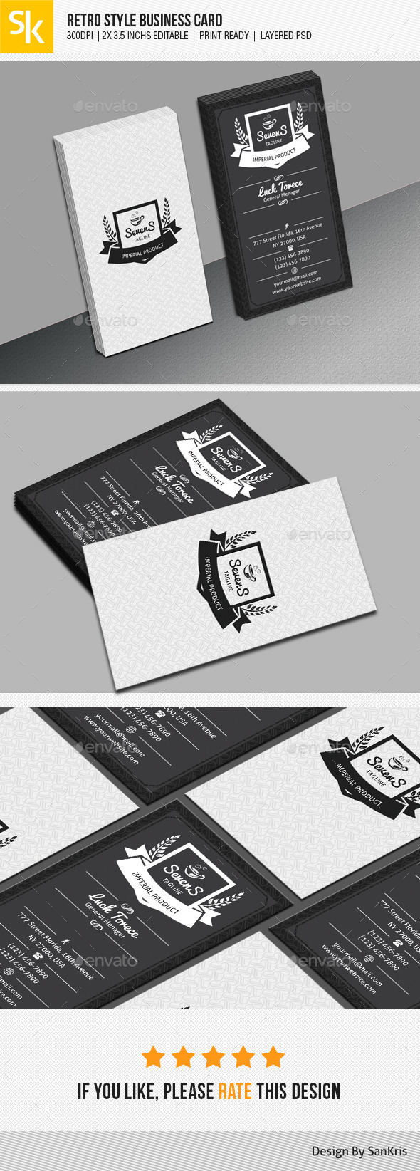 GraphicRiver Retro Style Business Card 11128183