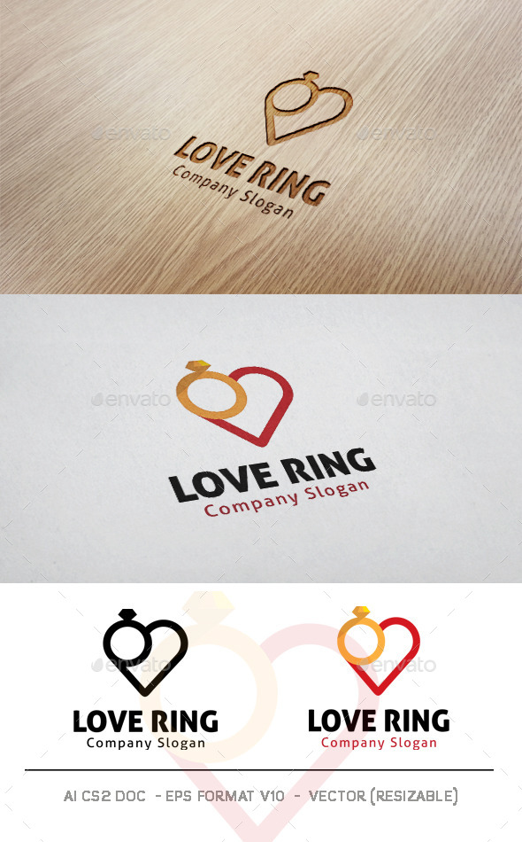 GraphicRiver Love Ring Logo 11128287