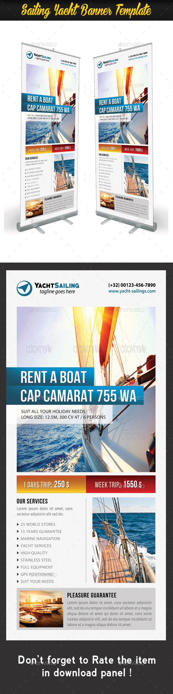 GraphicRiver Sailing Yacht Banner Template 04 11128376