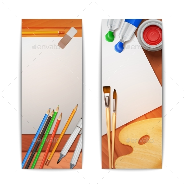 GraphicRiver Drawing Vertical Banners 11128579