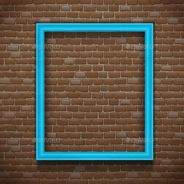 GraphicRiver Blue Frame on Wall 11128761