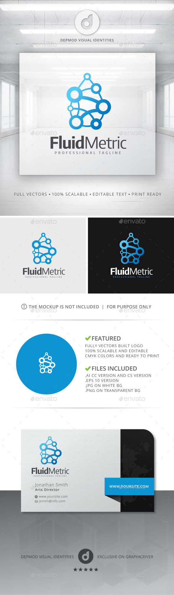 GraphicRiver Fluid Metric Logo 11128803