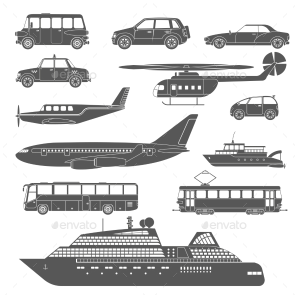 GraphicRiver Transport Icons Set 11128805