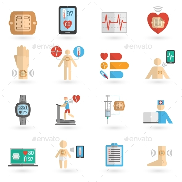 GraphicRiver Wearable Smart Icons 11128811