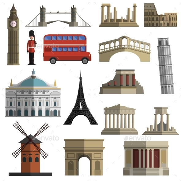 GraphicRiver Travel Landmark Icons 11128836