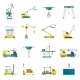 Lifting Equipment Flat Icon Set - GraphicRiver Item for Sale