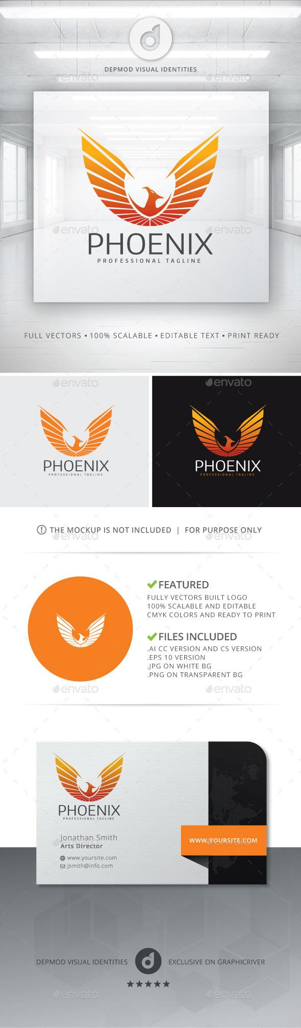 GraphicRiver Phoenix Logo 11128970