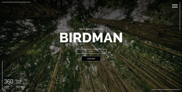 ThemeForest Birdman Responsive Coming Soon Page 11129103