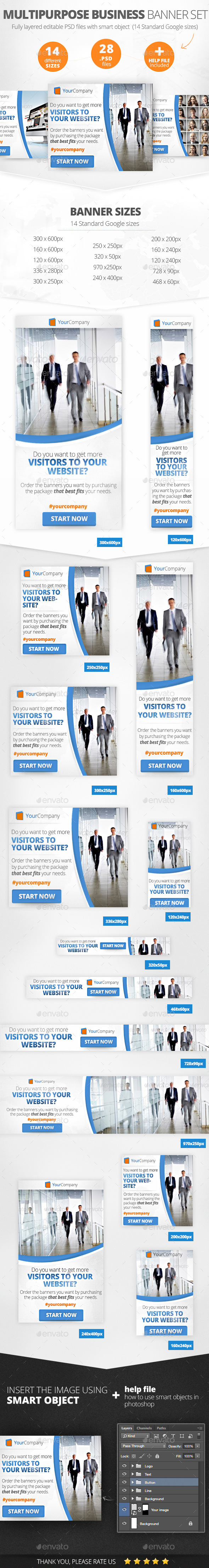 GraphicRiver Multipurpose Business Banner Set 11129147