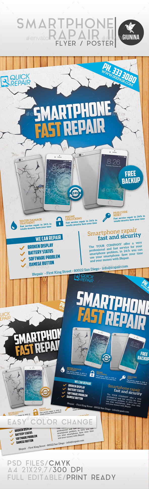 GraphicRiver Smartphone Repair II Flyer Poster 11129162
