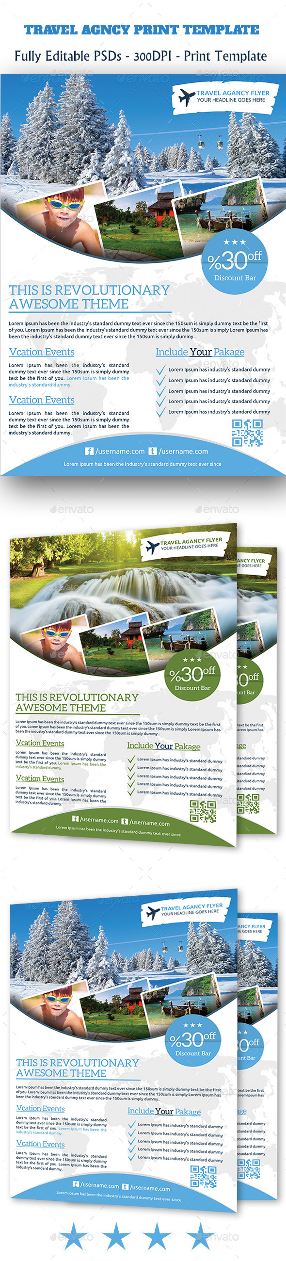 GraphicRiver Travel Agency Flyer 11129197