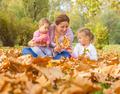 Happy Mother Enjoyment Beautiful Autumn Day - PhotoDune Item for Sale