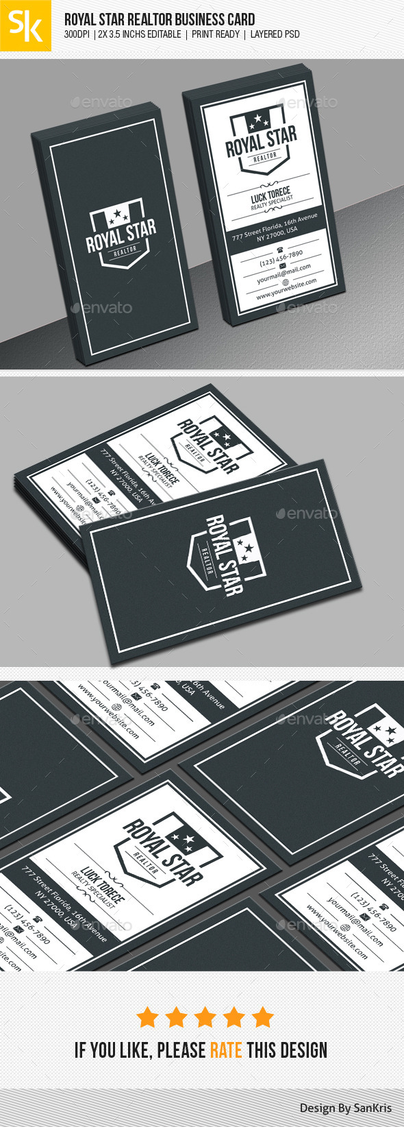 GraphicRiver Royal Star Realtor Business Card 11078128