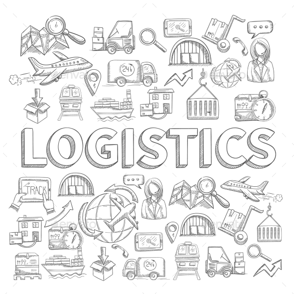 GraphicRiver Logistic Sketch Concept 11129266