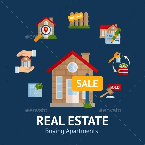 GraphicRiver Real Estate Illustration 11129268