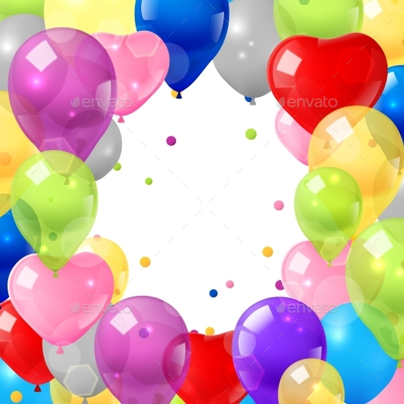 GraphicRiver Colorful Balloons Background 11129271