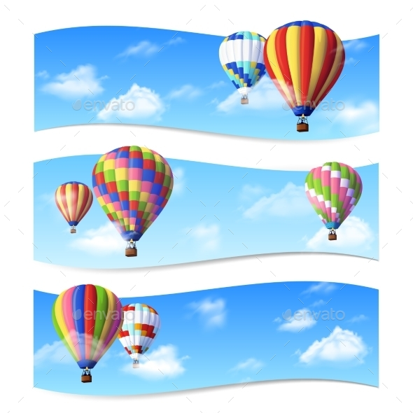GraphicRiver Air Balloon Banners 11129280