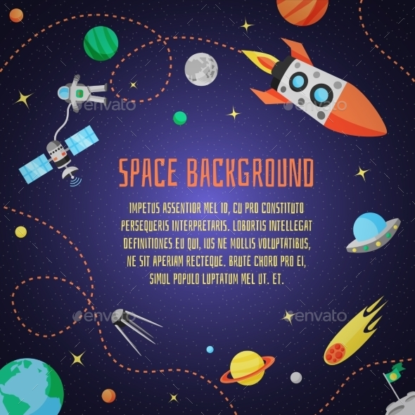 GraphicRiver Space Cartoon Background 11129289