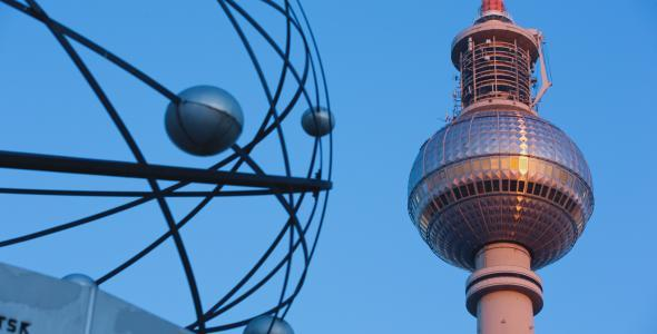 VideoHive Berlin Sunrise Detail TV Tower Universe Pass By 11129328