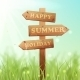Wooden Summer Sign  - GraphicRiver Item for Sale