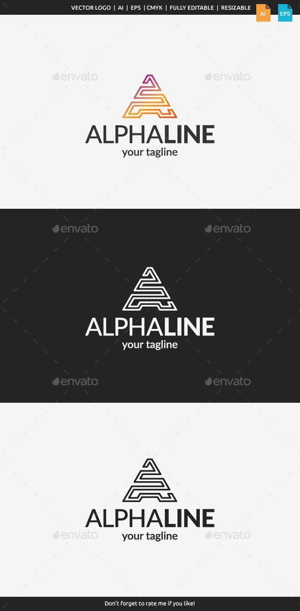 GraphicRiver Alpha Line Letter A 11129333
