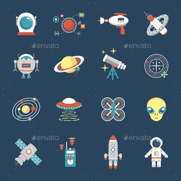 GraphicRiver Fiction Icon Set 11129335