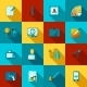 Graphic Design Flat Icons Set - GraphicRiver Item for Sale