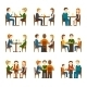 People In Restaurant Set - GraphicRiver Item for Sale