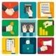 Business Hands Flat Set - GraphicRiver Item for Sale