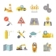 Road Worker Flat Icons Set - GraphicRiver Item for Sale