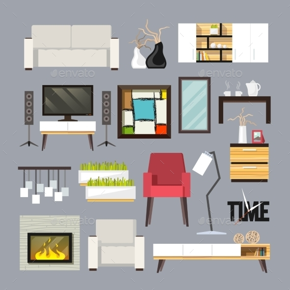 GraphicRiver Living Room Furniture Set 11129409
