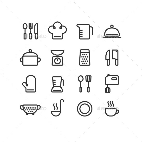 GraphicRiver Cooking Icons 11129782