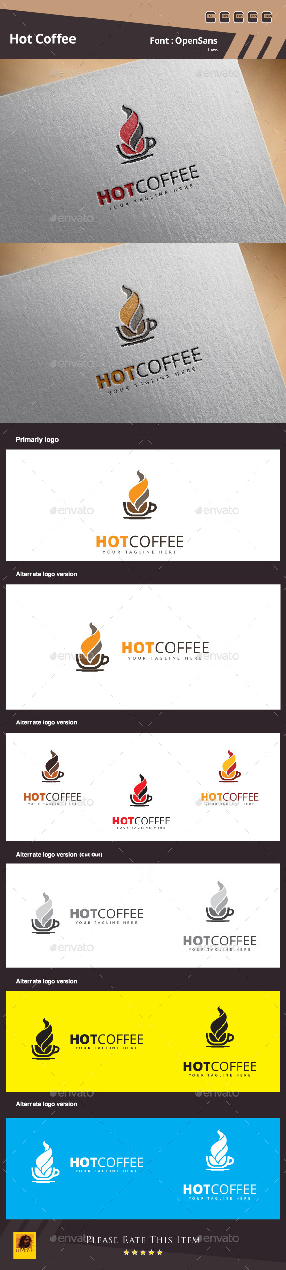 GraphicRiver Hot Coffee Logo Template 11129792