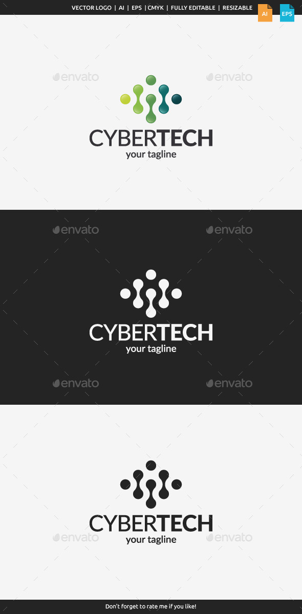 GraphicRiver Cyber Tech Logo Template 11129826